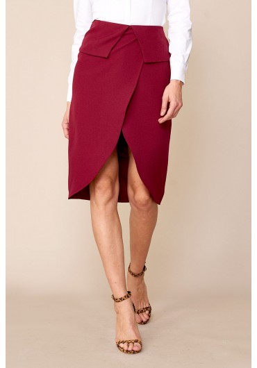 6d1daabe2d Evie Occasion Pencil Skirt in Burgundy ...