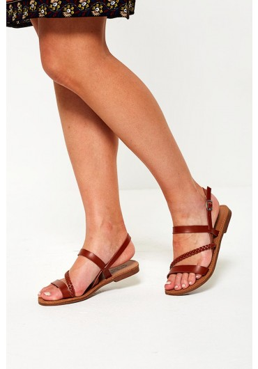 577f329c33e1 Macy Strappy Flat Sandals in Tan Macy Strappy Flat Sandals in Tan