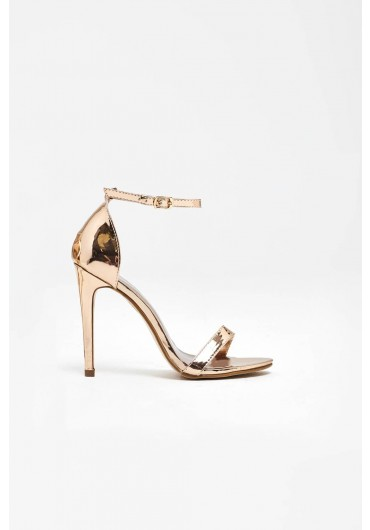 949ce363e ... Holly Ankle Strap Sandals in Rose Gold Chrome. Quick view
