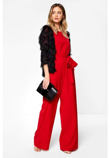 e01f3e4f0f Jacklyn Wide Leg Occasion Jumpsuit in Red ...