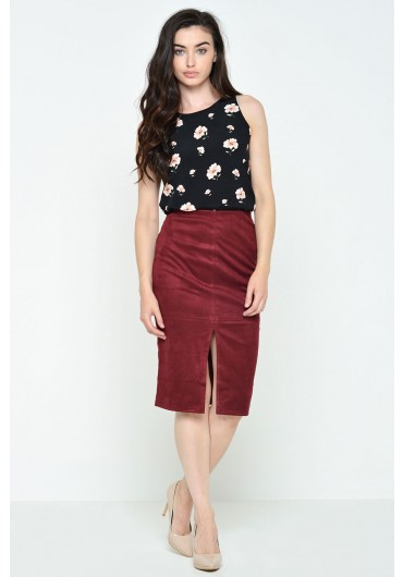 724362b5a9 Lana Suedette Pencil Skirt in Burgundy Lana Suedette Pencil Skirt in  Burgundy