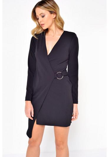 22178dc3bd8 Holly Wrap Mini Dress in Black ...