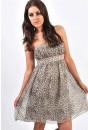 Diamante Trim Leopard Dress