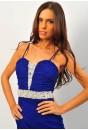 Eve Jewel Strap Dress (blue)