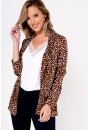 Janica Blazer in Leopard Print