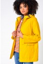 Lilly Stripe Lined Raincoat in Yellow