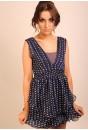 Alexis V Dress (blue)