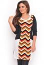Julia Stripe Knit Dress in Rust