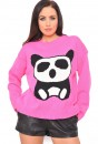 Miranda Panda Jumper in Pink