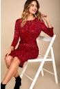 Nilga Animal Print Dress in Red