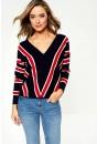 Aya Long Sleeve Top in Stripe