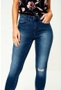 Commit Distressed Skinny Jeans in Medium Blue