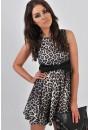 Phillipa Leopard Skater Dress