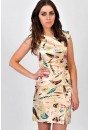 Janet Feather Satin Dress