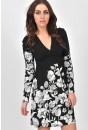Adiva V Neck Flower Dress