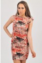 Ali Tailored Printed Dress in Coral