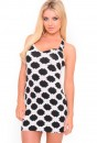 Motel Robyn Bodycon Dress in Mighty Criss Cross Print
