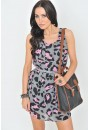 Sally Animal Print Chiffon Dress