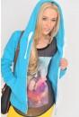 Hayley Full Zip Hoodie in Turquoise