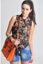 Rosa Chain Print Sleeveless Shirt