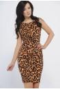 Francis Knot Detail  Leopard Dress