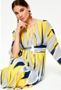 Donatella Geometric Maxi Dress in Yellow