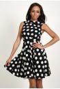 Jade Polka Dot  Dress (Black)