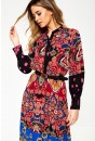Italia Long Sleeve Midi Dress in Paisley Print