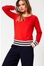 Soffy Long Sleeve Sweat in Red