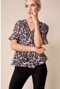 Niamh Leopard Print Wrap Top