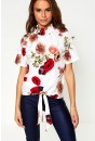 Ruby Front Tie Top in White
