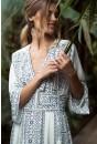 Chiara Monochrome Maxi Dress in White