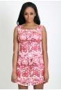 Saffi Sleeveless Shift Dress (Pink)