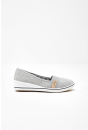 Polly Wedge Slip On Shoes in Grey
