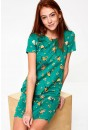 Tinny Short Sleeve Dress in Green Floral