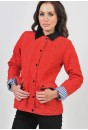 Oriel Cord Collar Quilted Jacket in Red