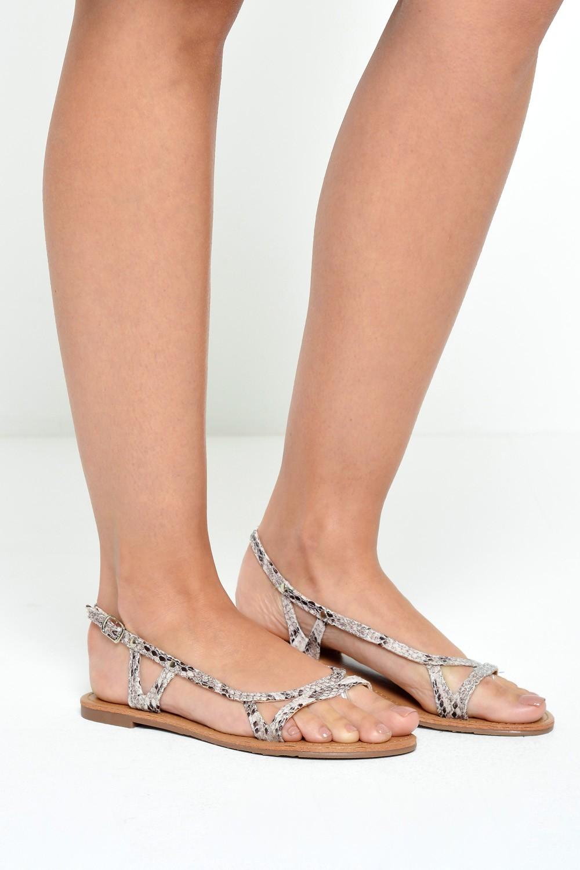2f5b8fa6a16a41 Cm paris danni snake print flat sandals iclothing jpg 1000x1500 Snake print  shoes for women