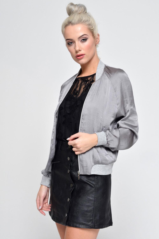 Vero Moda Nicole Short Jacket in Grey   iCLOTHING
