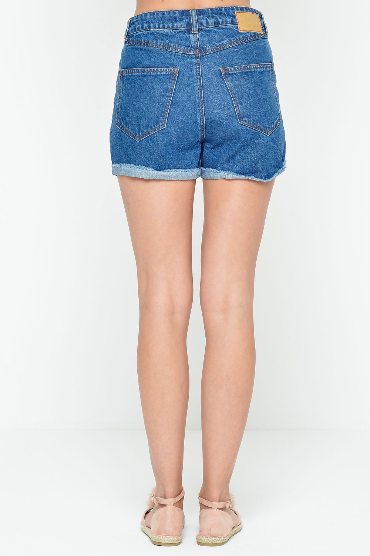 Be Denim Shorts in Dark Blue