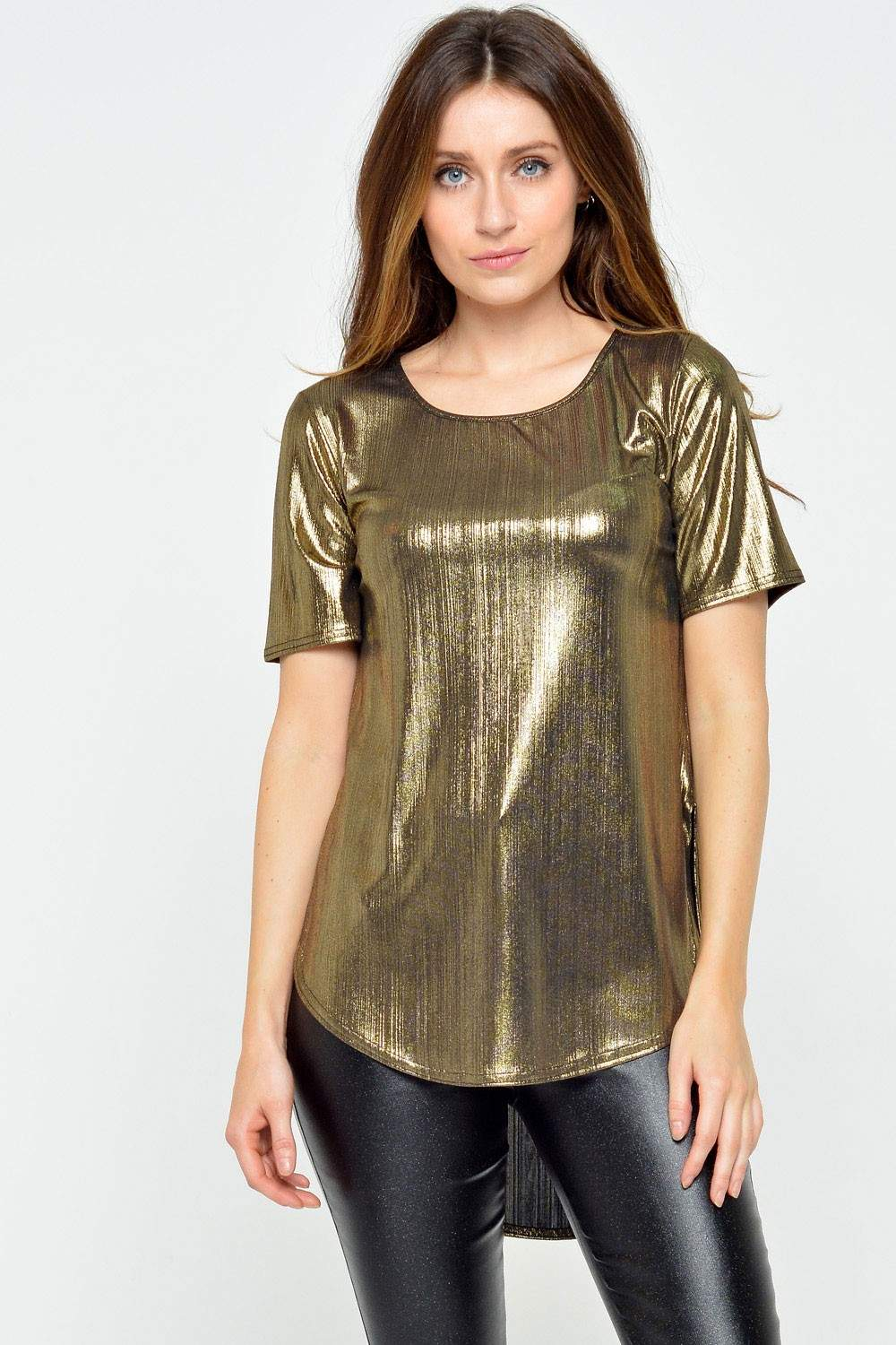 Passion Cami Metallic Top In Gold Iclothing