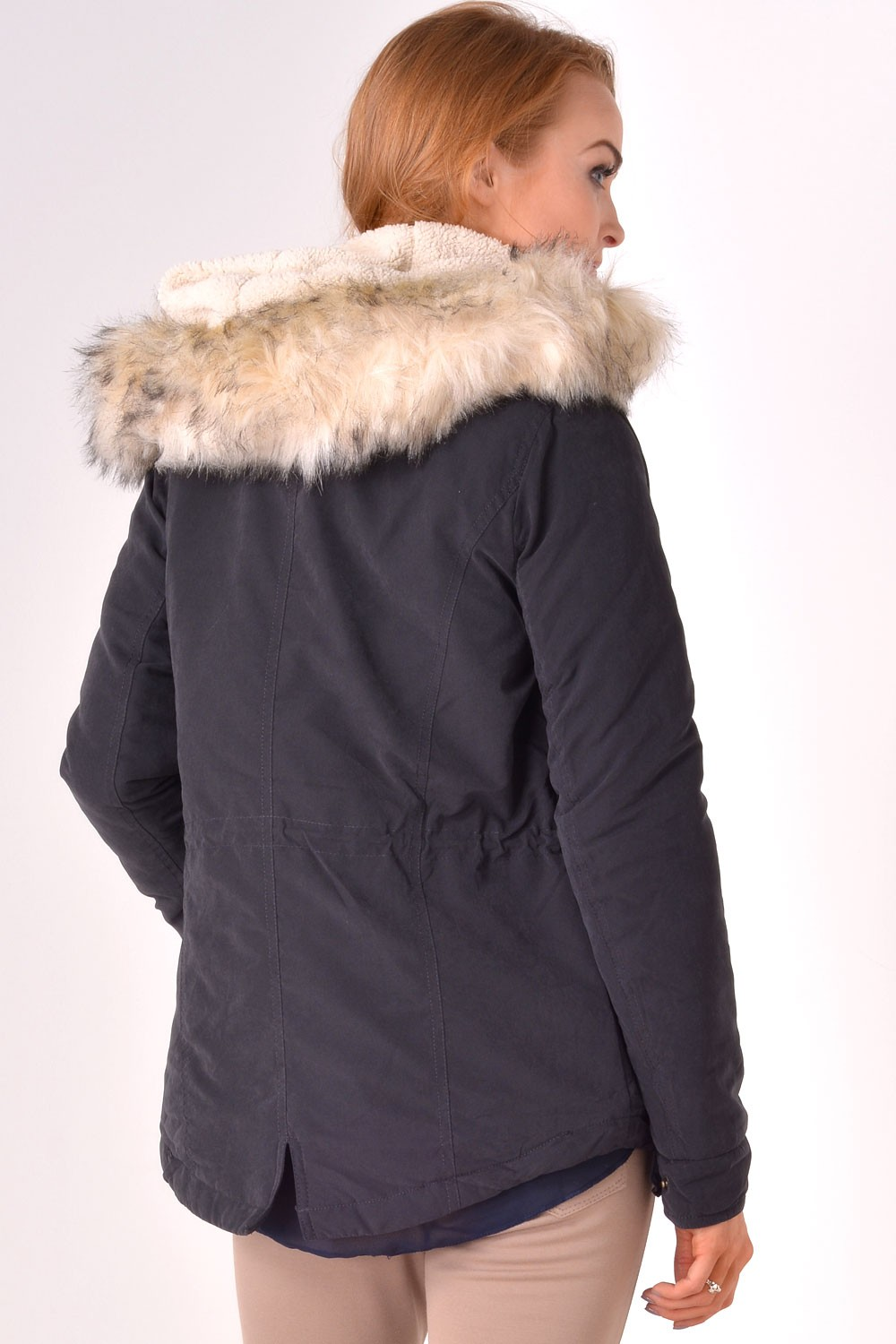 15ed3226 Only Lucca Short Parka Jacket in Black | iCLOTHING