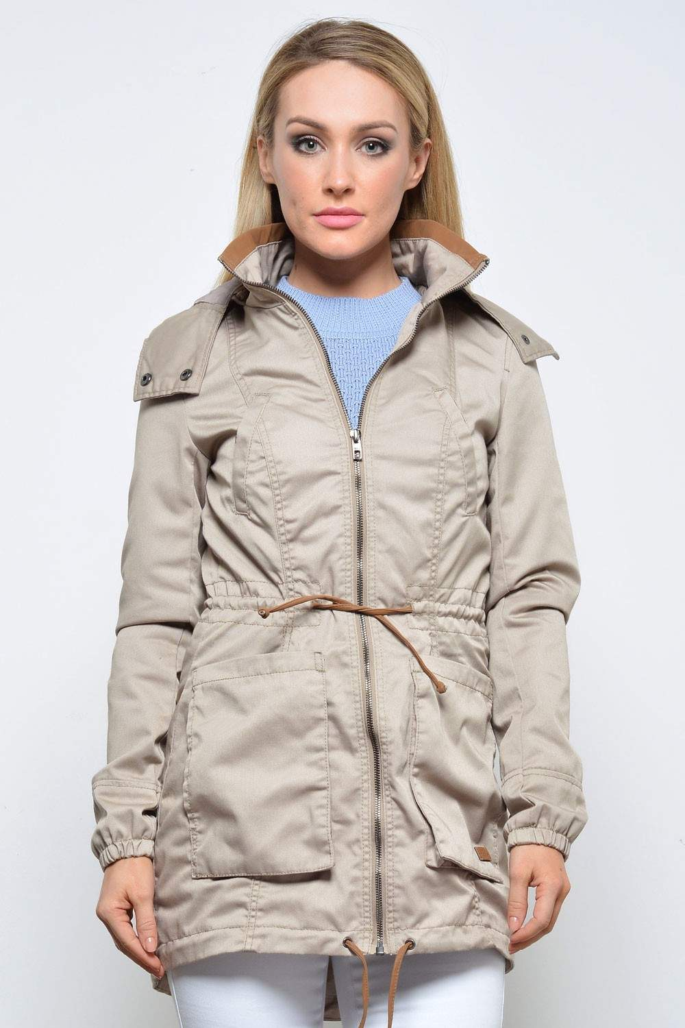 New Olga Spring Parka Jacket in Simply Taupe