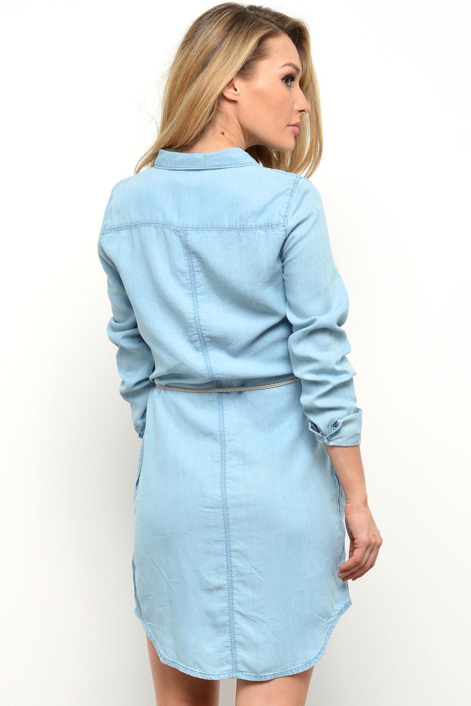 f0affeb01b3 Only Henna Denim Dress in Light Blue