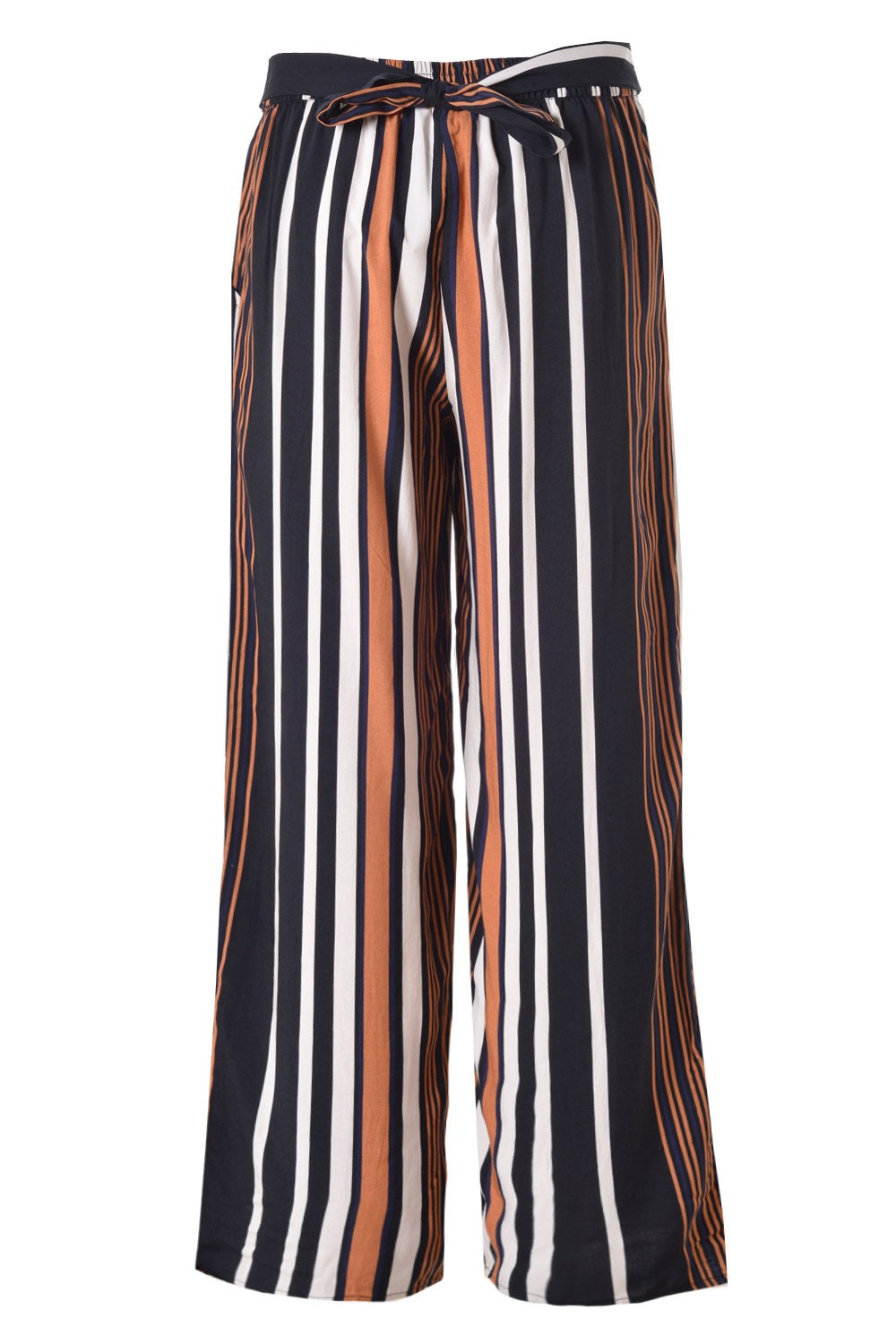 Only Nova Stripe Palazzo Pants in Multi