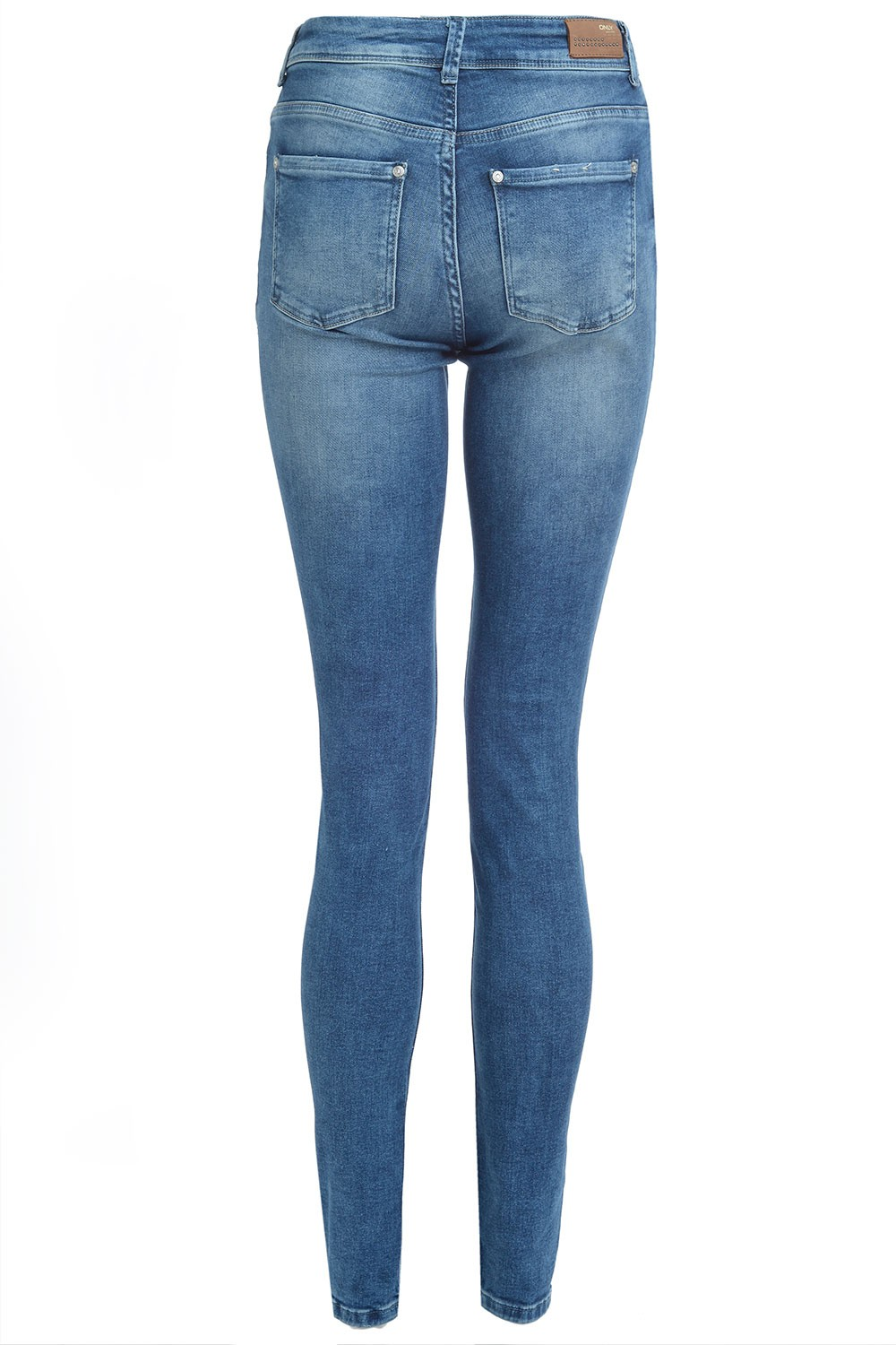 The Levi's High Rise Skinny Medium Wash Distressed Jeans are the ultimate in comfort and style! Lightly faded and whiskered denim shapes these medium wash, high-rise skinnies with belt loops, a five-pocket cut, and button fly/5(19).