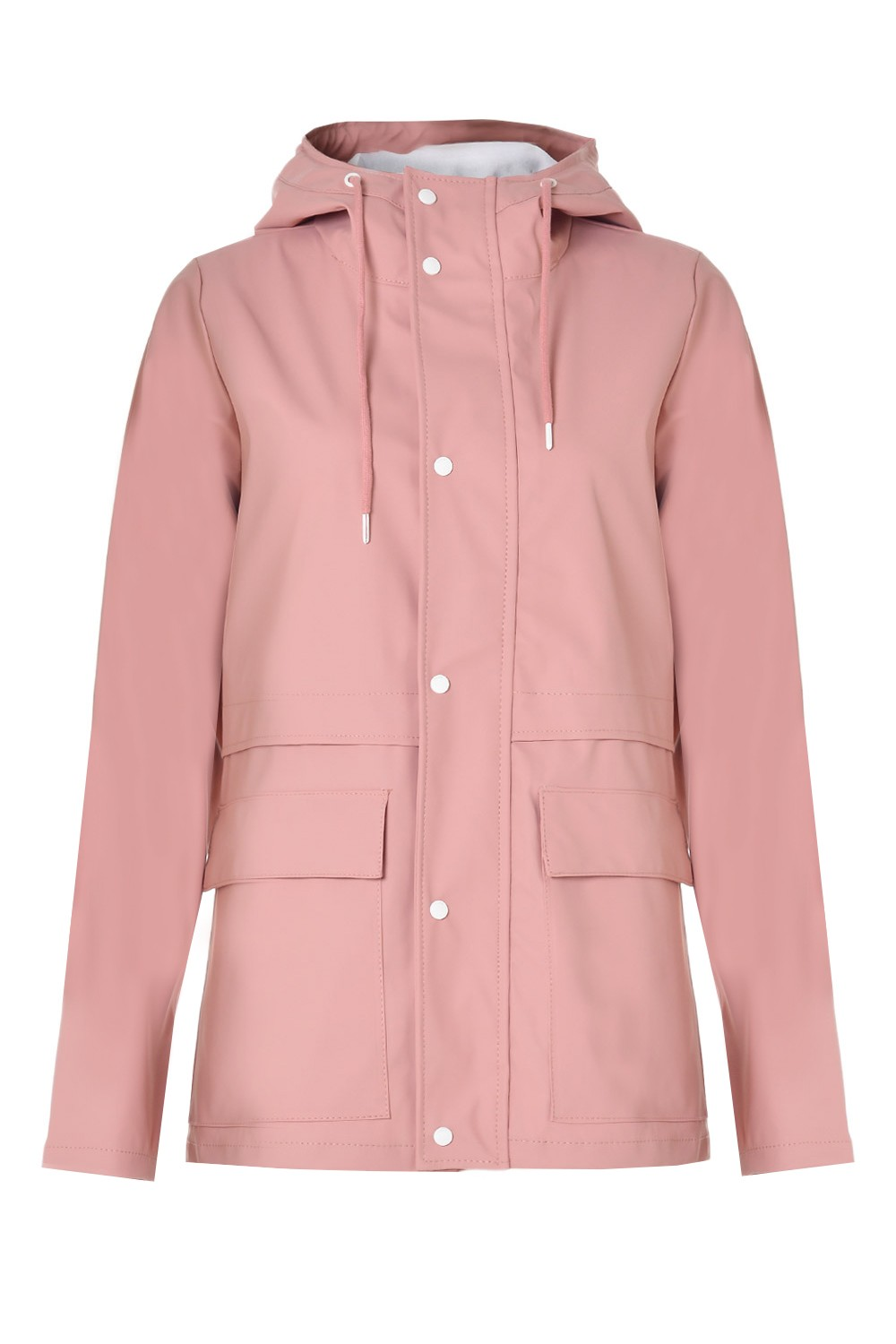 Train Short Raincoat in Rose