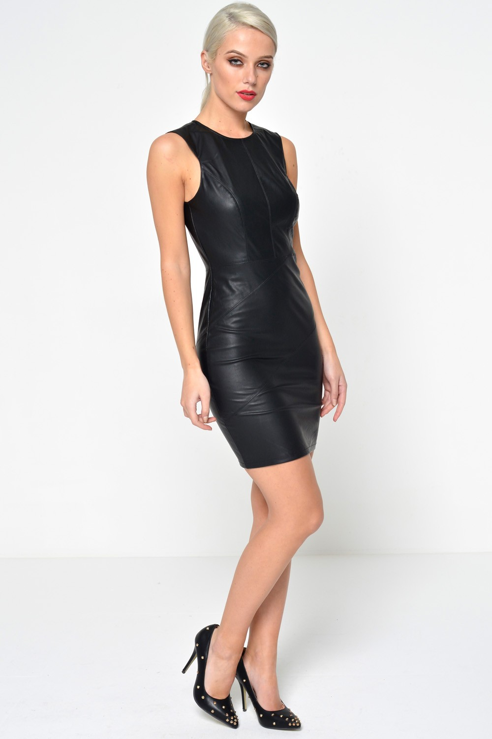 Only Ticket Faux Leather Dress