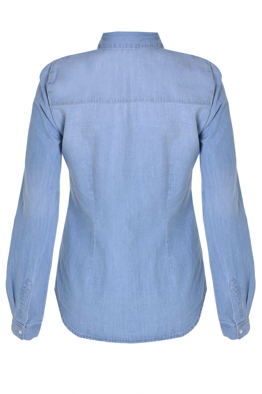 Only Rock It Fit Denim Shirt In Light Blue Iclothing