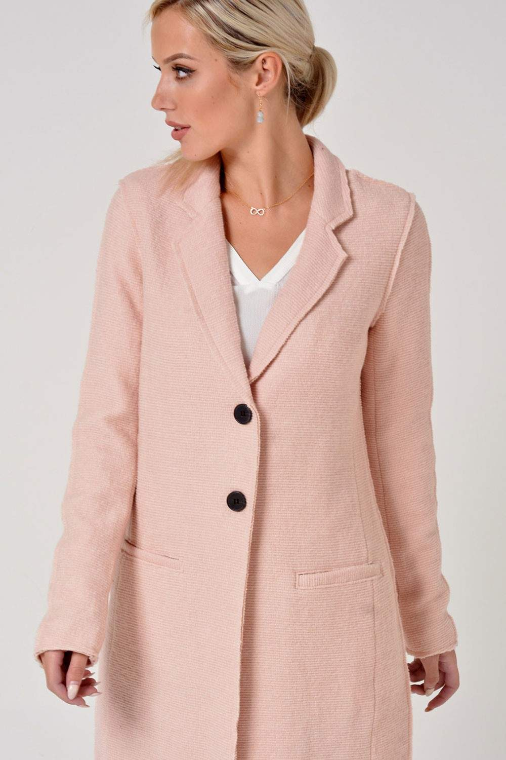 Only Ella Wool Coat in Blush | iCLOTHING