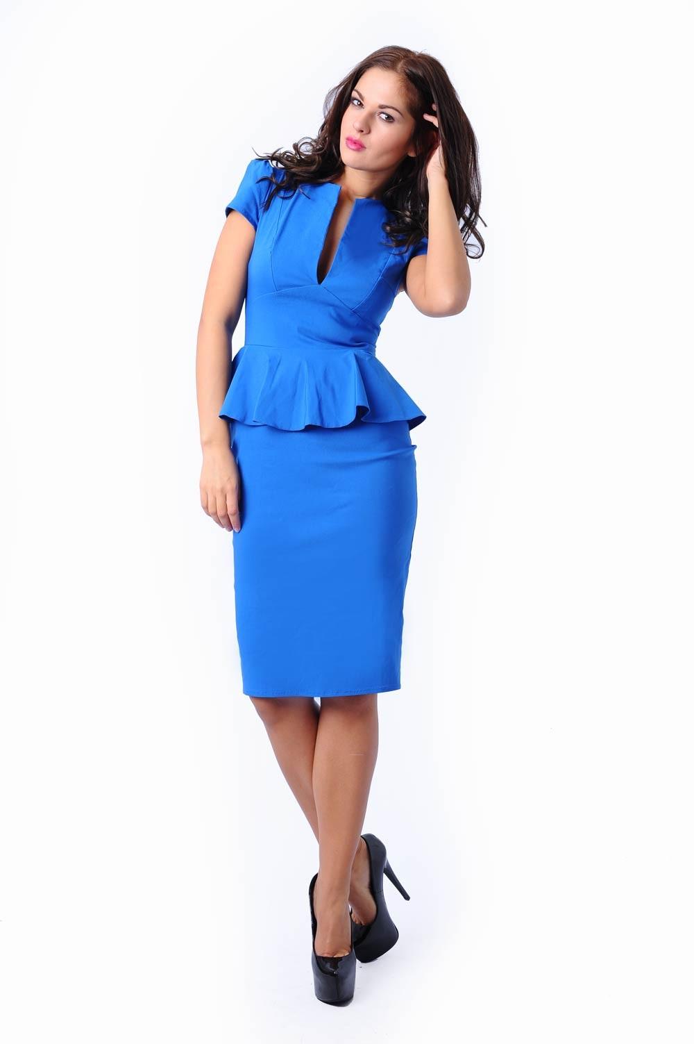 Blue peplum dress - Fashion dresses